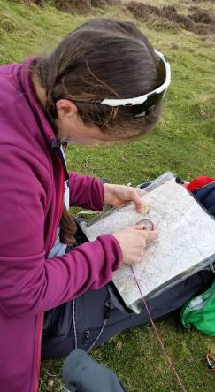 Navigation on Moel Arthur, North Wales