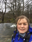 Standing wave in the Esk over the stepping stone