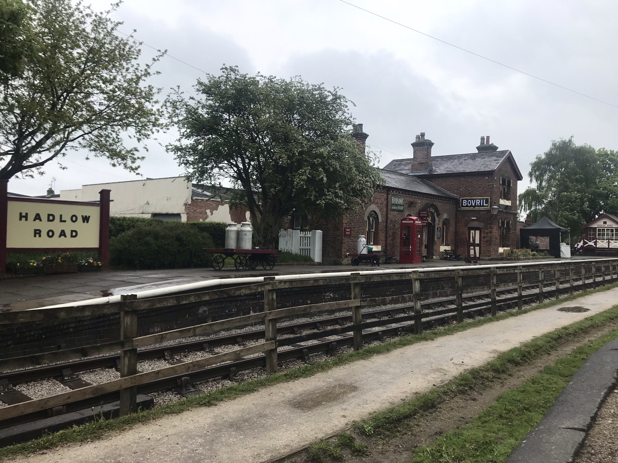 A disused station turned into a cafe